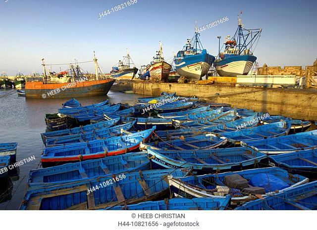 harbour, port, boats, fishing boats, fishing, fishery, fishing cutter, Atlantic coast, Essaouira, Morocco, Africa, Nor