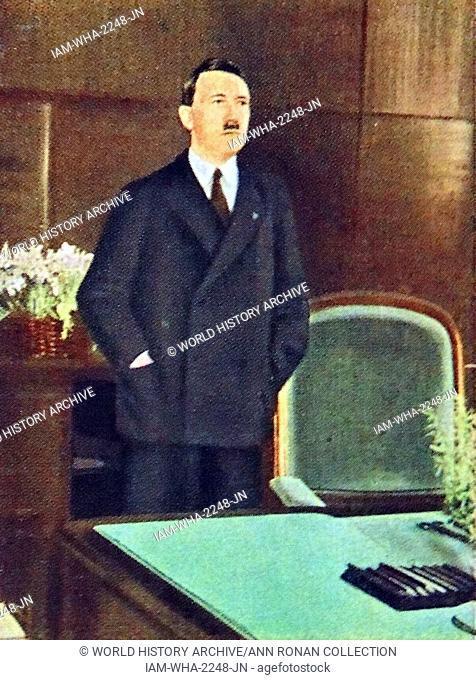 Adolf Hitler in his office circa 1933