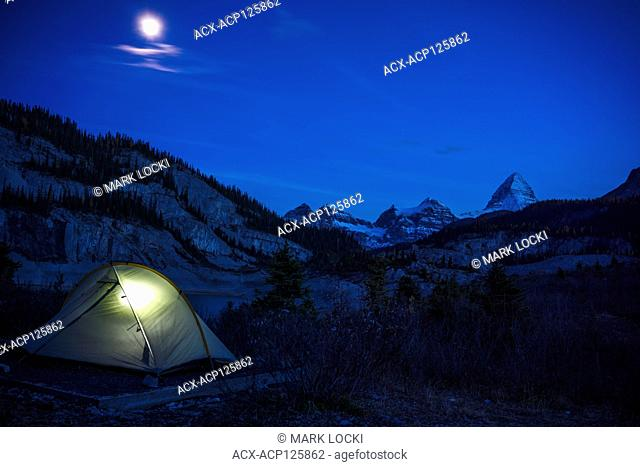 Camping at Og Lake, Assiniboine Provincial Park, British Columbia, Canada
