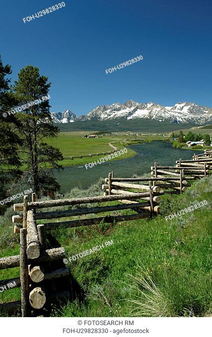 Stanley, ID, Idaho, Sawtooth Valley, Salmon River, Sawtooth Mountain Range