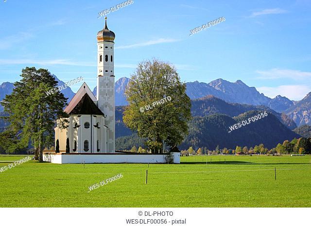 Germany, Bavaria, Allgaeu, Schwangau, St. Koloman church