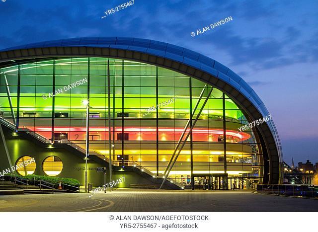 The Sage Gateshead concert hall. Gateshead, Tyne & Wear, England, United Kingdom, Europe