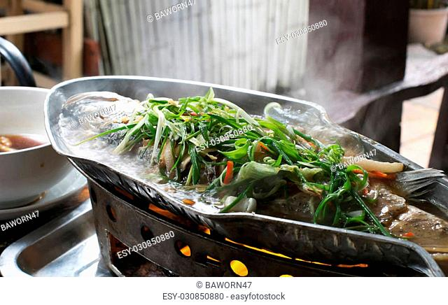 Steamed snapper with soy sauce