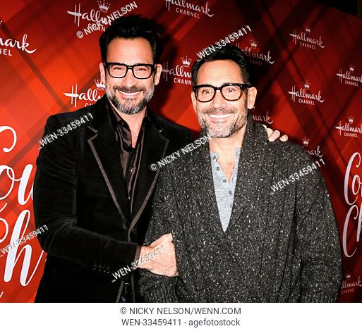 Hallmark's 'Christmas at Holly Lodge' screening at 189 The Grove Drive - Arrivals Featuring: Lawrence Zarian, Gregory Zarian Where: Los Angeles, California