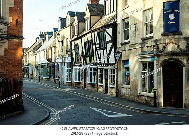 Spring afternoon in Winchcombe, small town in the Cotswolds, Gloucestershire, England