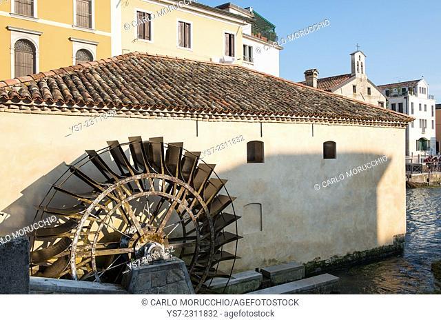 Mills on Lemene river, Portogruaro, Venice province, Italy, Europe