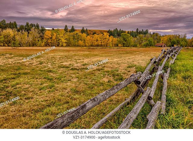 Fall on Montana Farmland USA