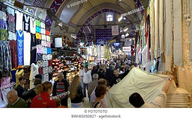Grand Bazaar, sale of clothing, Turkey, Istanbul, Eminoenue, Beyazit