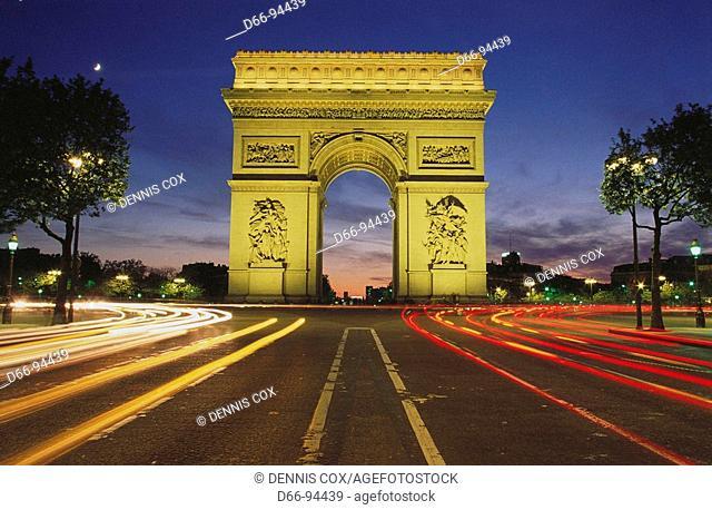 Arc de Triomphe, Paris. France