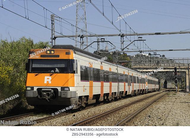 Barcelona subway service. Castelbisbal, Barcelona, Spain, Europe