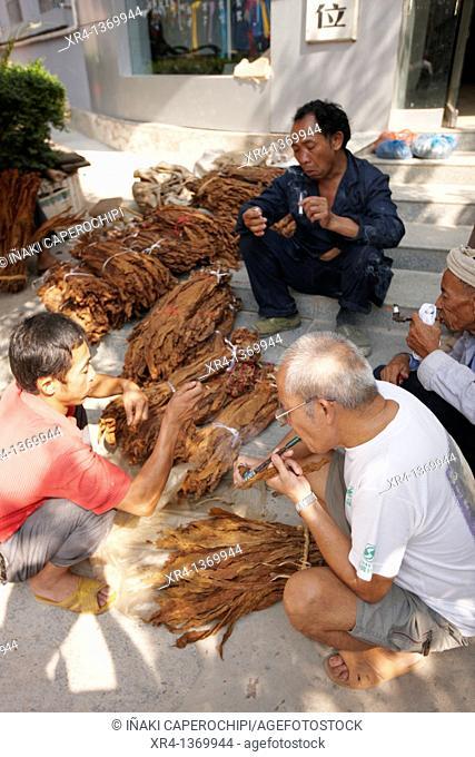 Snuff Sale, Market Rongjiang, Rongjiang, Guizhou, China