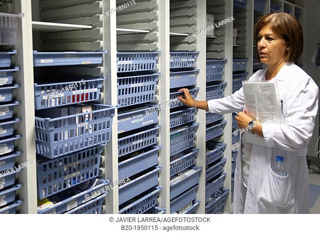 Storage, Intensive Care Unit ICU, Donostia Hospital, San Sebastian, Donostia, Gipuzkoa, Basque Country, Spain