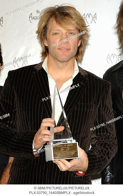 Jon Bon Jovi at the 32nd Annual American Music Awards - Press Room held at the Shrine Auditorium in Los Angeles, CA. The event took place on Sunday, November 14