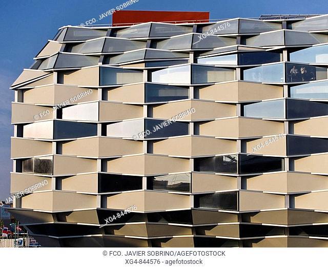 Aragon Pavilion designed by architects Olano and Mendo, Expo Zaragoza 2008. Zaragoza, Aragon, Spain
