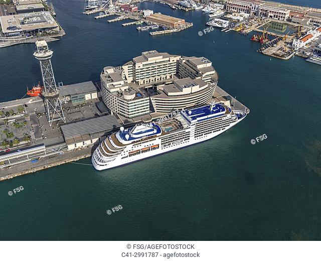 Port of Barcelona. Spain