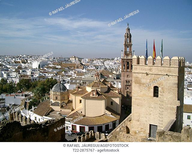 Carmona (Seville) Spain. Overview of the town of Carmona from the Alcazar of the Puerta de Sevilla