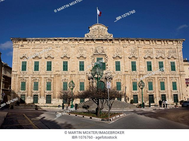 Auberge de Castille, office of the Prime Minister of Malta, Valletta, Malta, Europe