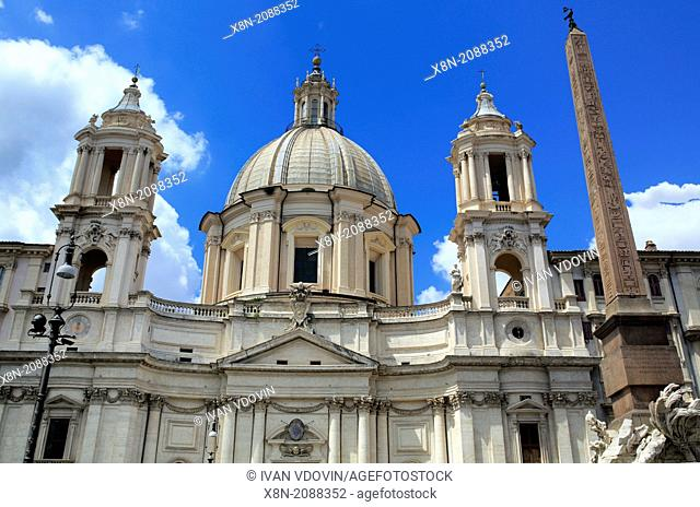 Church Sant'Agnese in Agone, Piazza Navona, Rome, Italy