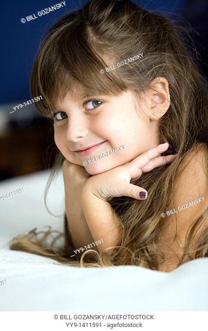 Young girl posing for camera - Fort Lauderdale, Florida USA