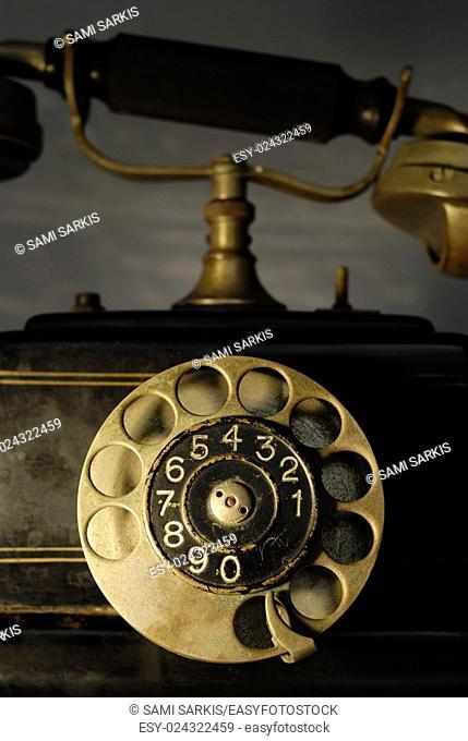Antique 1920s dial telephone, (Ericsson 1928)