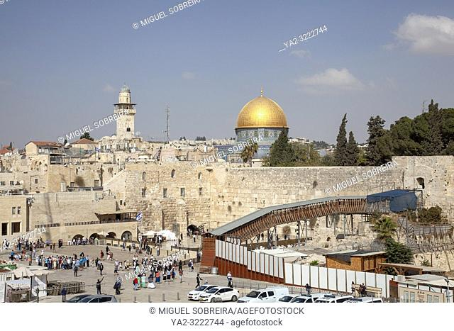 Dome o f the Rock and Temple Mount in Jerusalem Old City in Israel