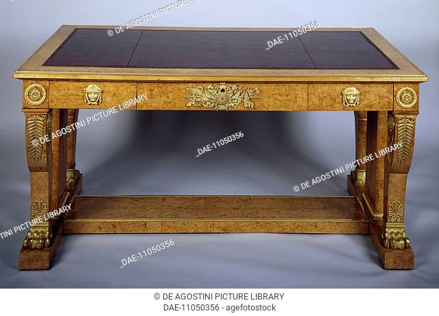 Restoration style (Louis XVIII) writing desk, ca 1815, designed by Jean-Jacques Werner (1791-1849). France, 19th century