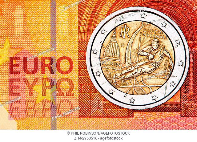 2 Euro Coin Stock Photos And Images Age Fotostock