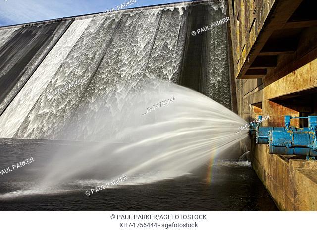 Lyns-y-fran Reservoir and Dam, West Wales, UK