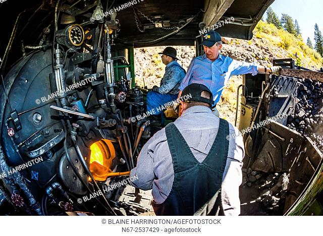 Governor John Hickenlooper (of Colorado) visit aboard the Cumbres & Toltec Scenic Railroad, from Antonito to Osier, Colorado