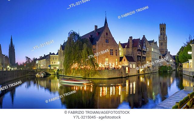 Rozenhoedkaai (Quay of the Rosary) Bruges, Flanders, Belgium