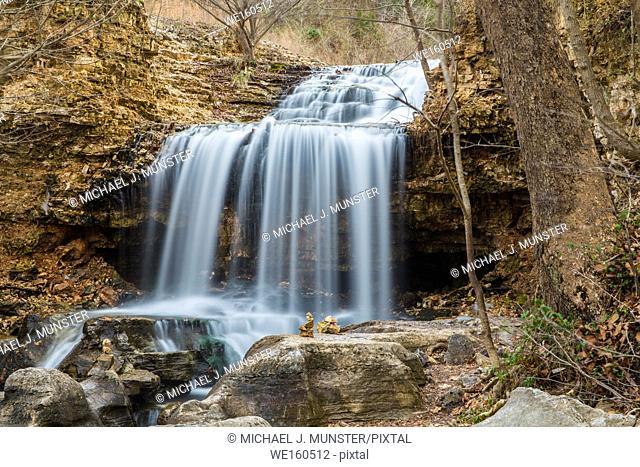 Waterfall at Tanyard Creek Park in Bella Vista, Arkansas
