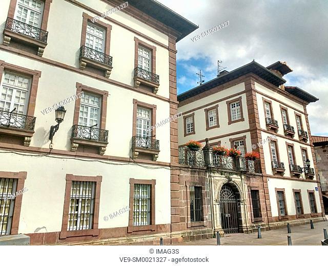Arizkunenea palace, Elizondo village, Baztan valley, Navarre, Spain