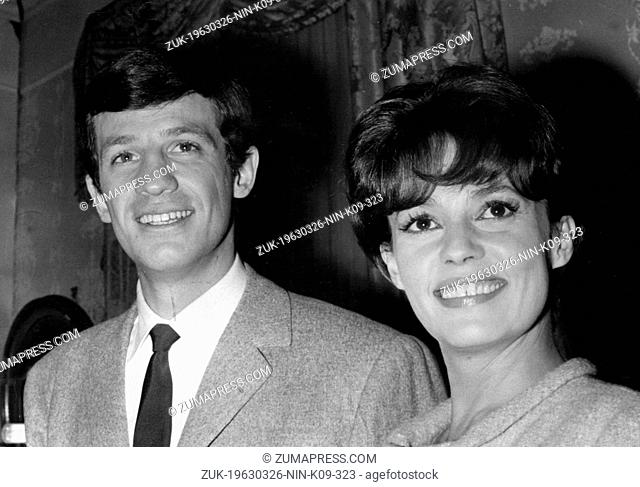 Mar. 26, 1963 - Paris, France - French actors JEAN-PAUL BELMONDO and JEANNE MOREAU. Once a key face of the French New Wave and one of the most famous actors in...