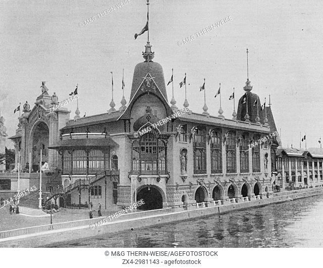 Forest, Hunt and Fishing Palace, Universal Exhibition 1900 in Paris, Picture from the French weekly newspaper l'Illustration, 7th July 1900