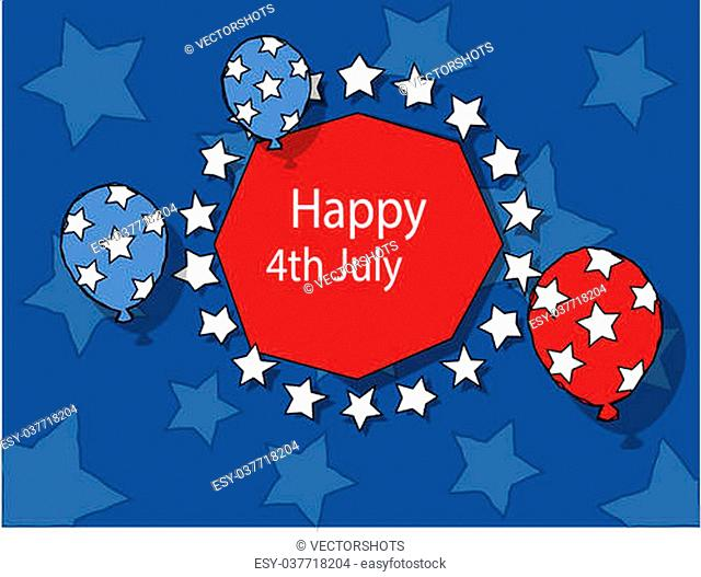 Freedom - 4th of july vector illustration