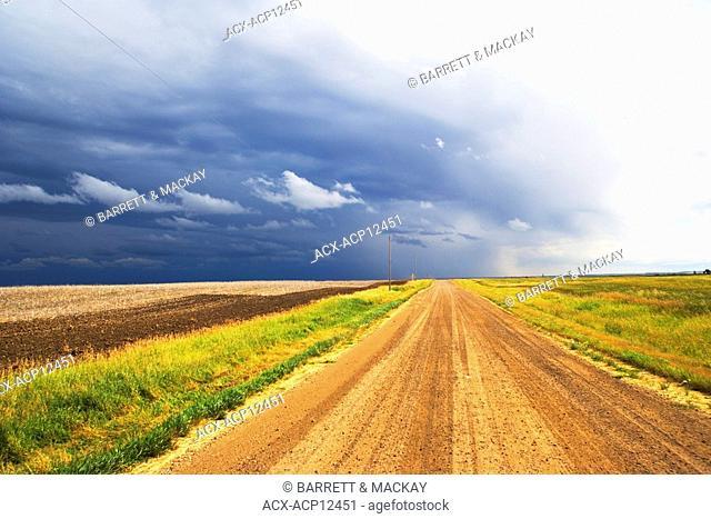 storm over Ridge Road 221, Alberta, Canada