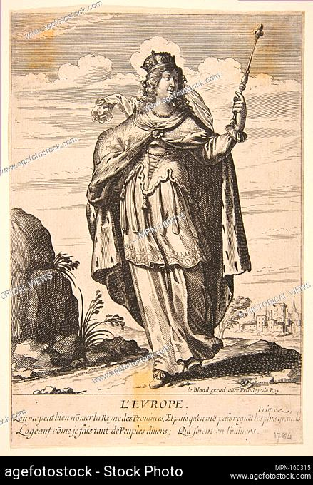 Europe. Series/Portfolio: The Four Parts of the World; Artist: Abraham Bosse (French, Tours 1602/1604-1676 Paris); Publisher: Jean I Leblond (French, ca