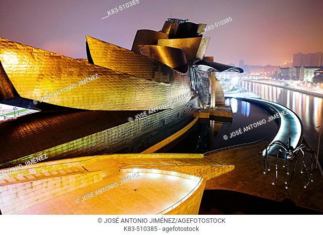 Guggenheim Museum by Frank O. Gehry. Bilbao, Biscay. Euskadi, Spain