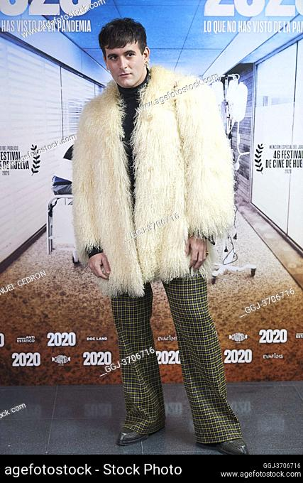 Alejandro Palomo Spain attends '2020' Documental Movie Exclusive Premiere at Wizink Center on November 26, 2020 in Madrid, Spain