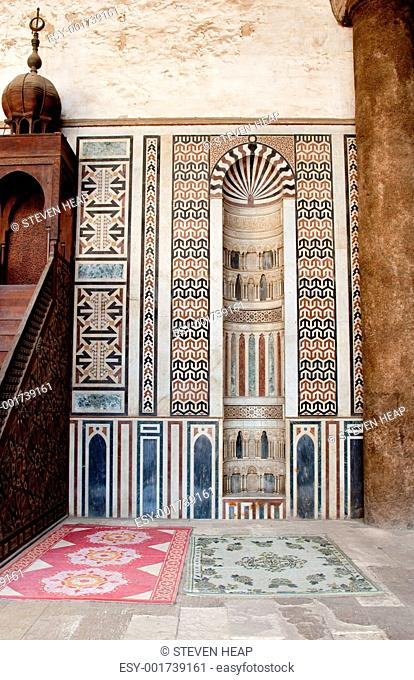 Decorated areas facing mecca in the Citadel Cairo