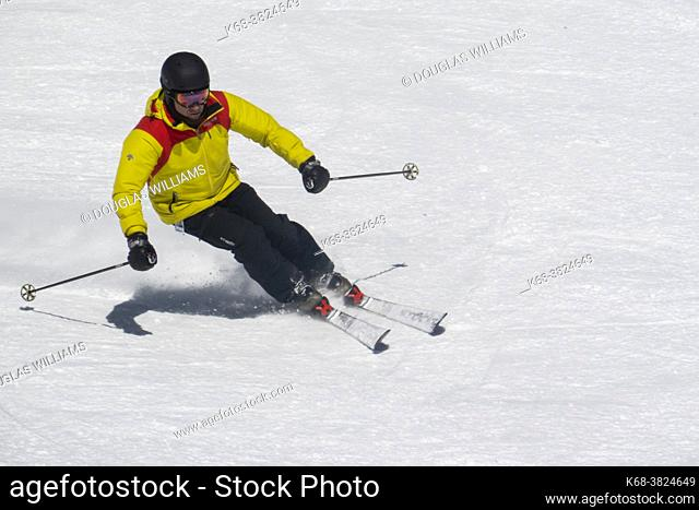 Sking at Silver Star ski resort near Vernon, BC, Canada