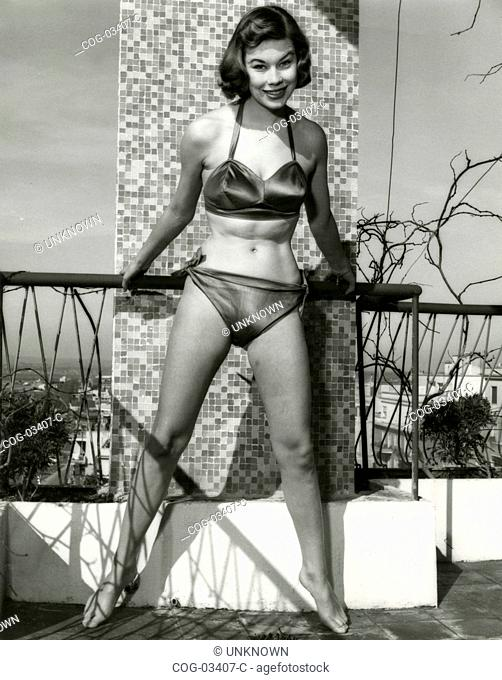 The aspiring actress Ilsa Petersen in a two-piece swimsuit