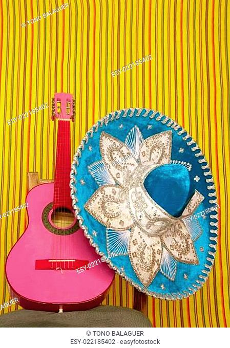mariachi embroidery mexican hat pink guitar