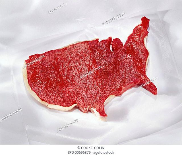 USA Shaped Steak