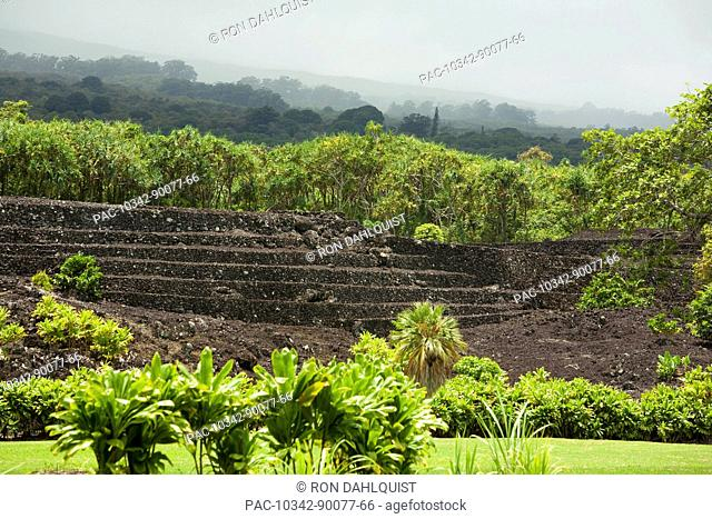 Hawaii, Maui, Hana, Kahanu Gardens and Pi'ilani Heiau
