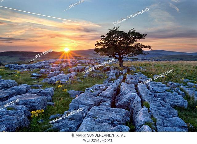 Sunset at Winskill Stones