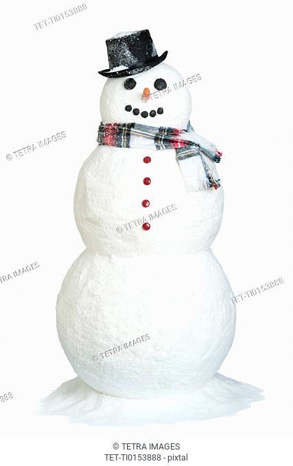 Studio shot of snowman