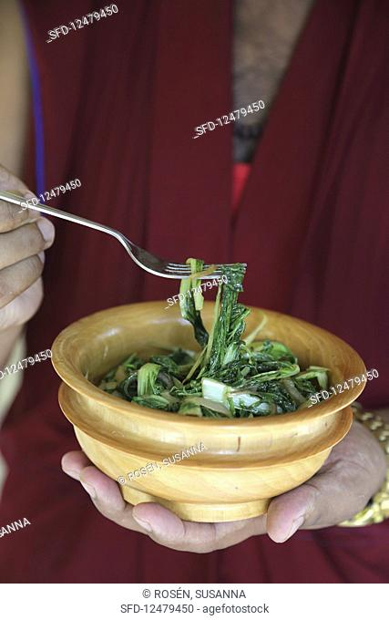 Padsel doma (vegetable dish from Tibet)