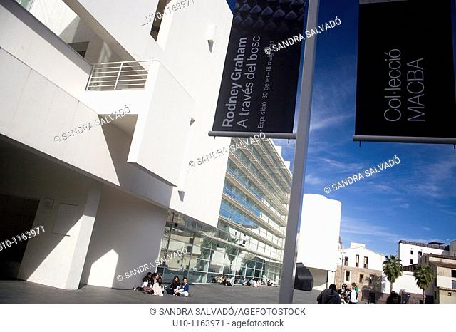 Museum of Contemporary Art, MACBA, Ciutat Vella, Barcelona, Catalonia, Spain