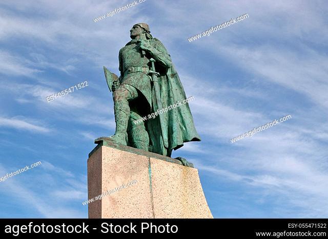 reykjavik, statue, leif ericson